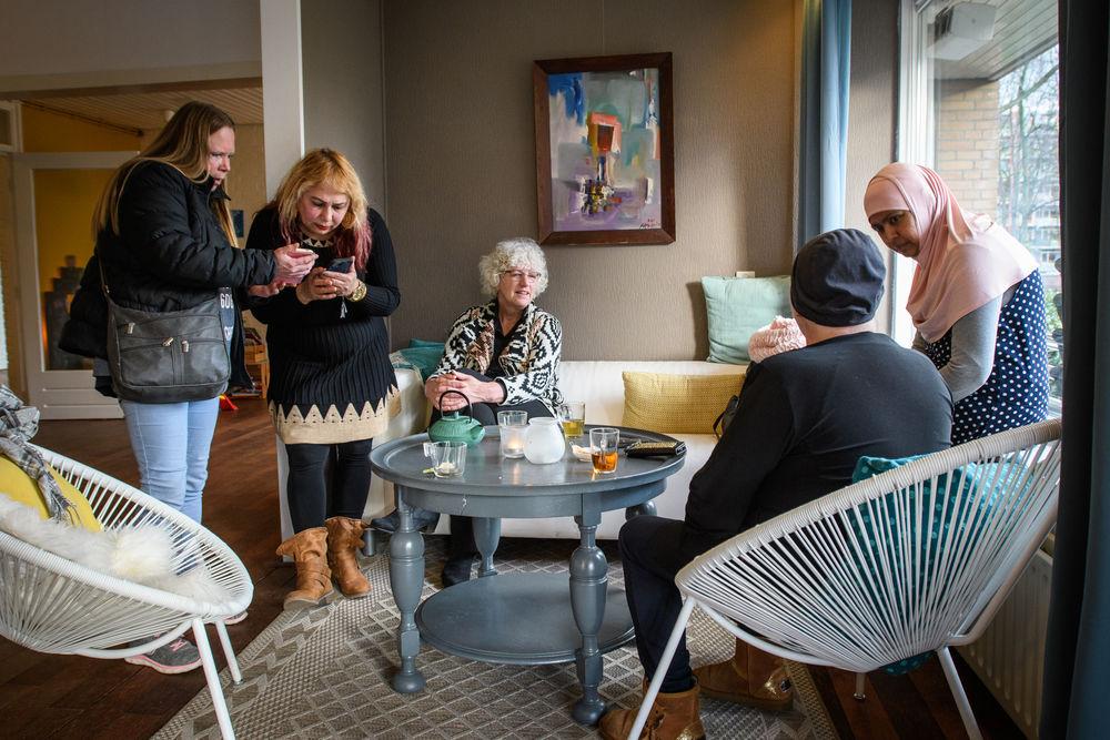 TASTE community members gather for Bible studies and conversation. Photo by Garrett N.